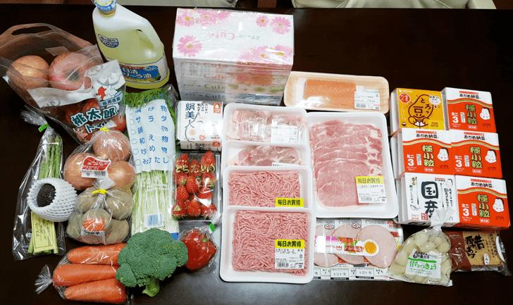 楽天西友ネットスーパーで購入した食料品