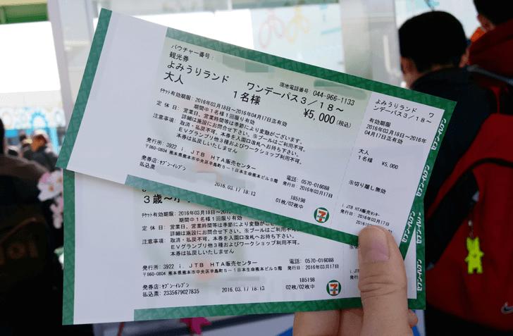 発券されたチケット