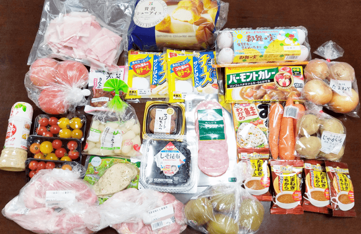 イトーヨーカドーネットスーパーで購入した食料品