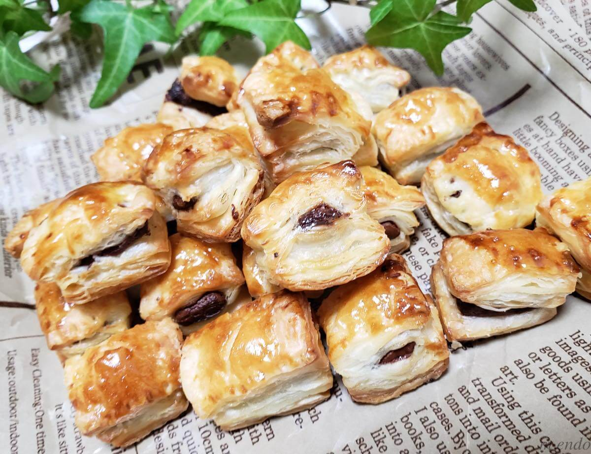材料3つで簡単!パイの実再現レシピ。冷凍パイシートと板チョコ