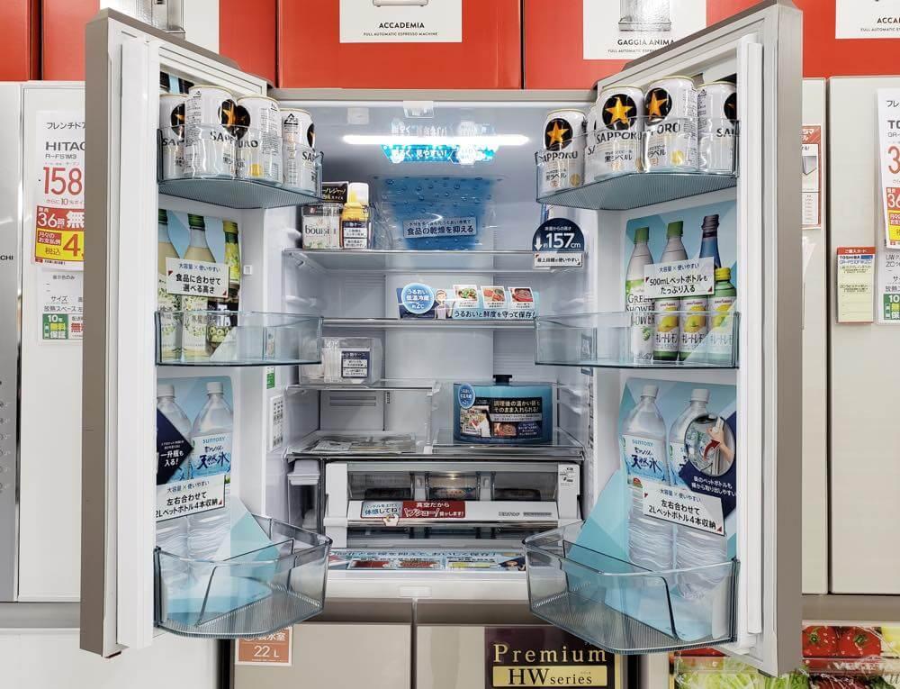 フレンチタイプの冷蔵庫