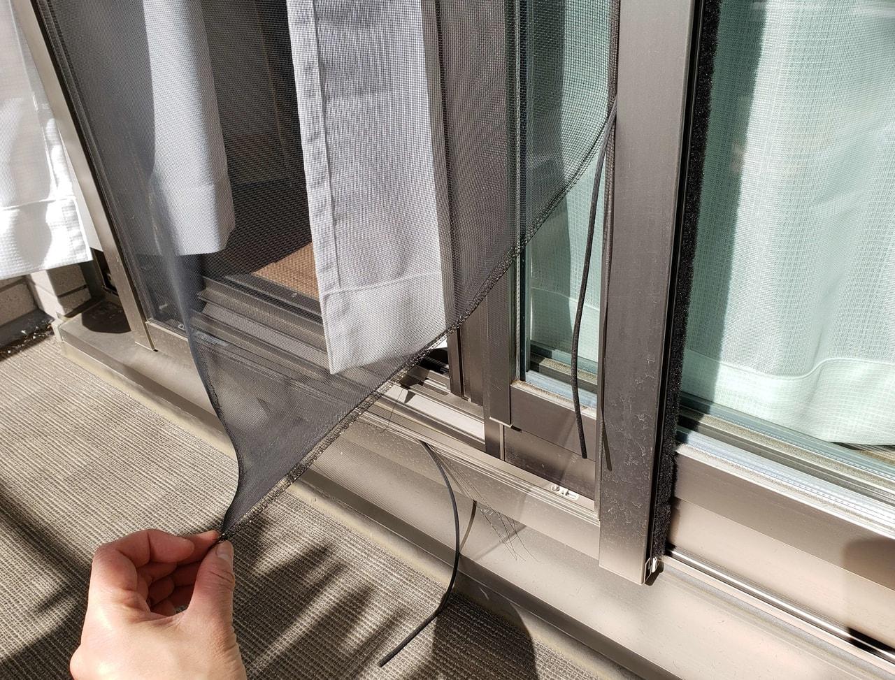 網戸の修理