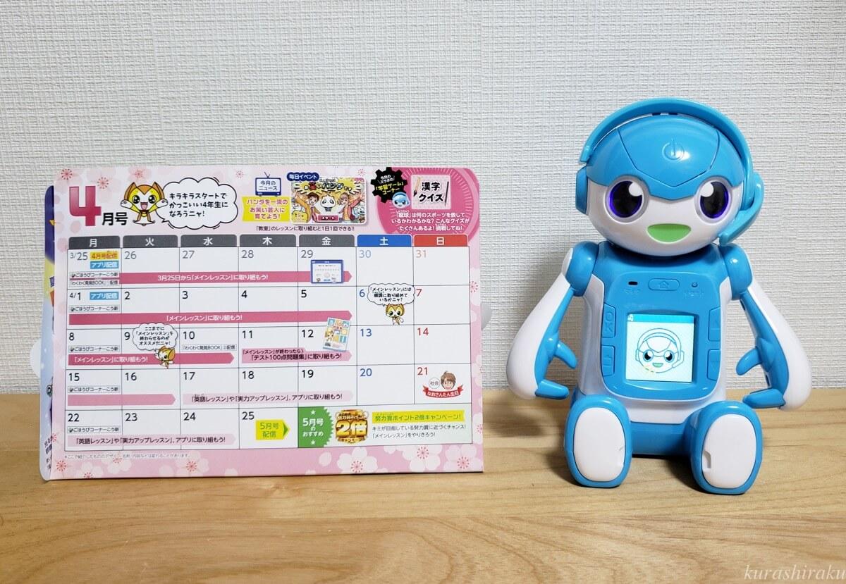 カレンダーとミラクルロボ