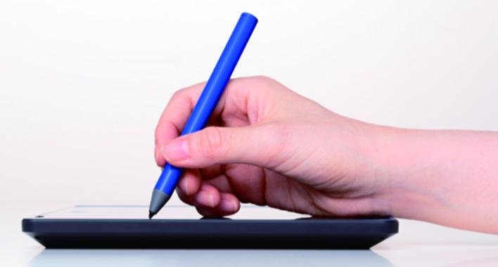 完全に手をついて書きたいように書ける