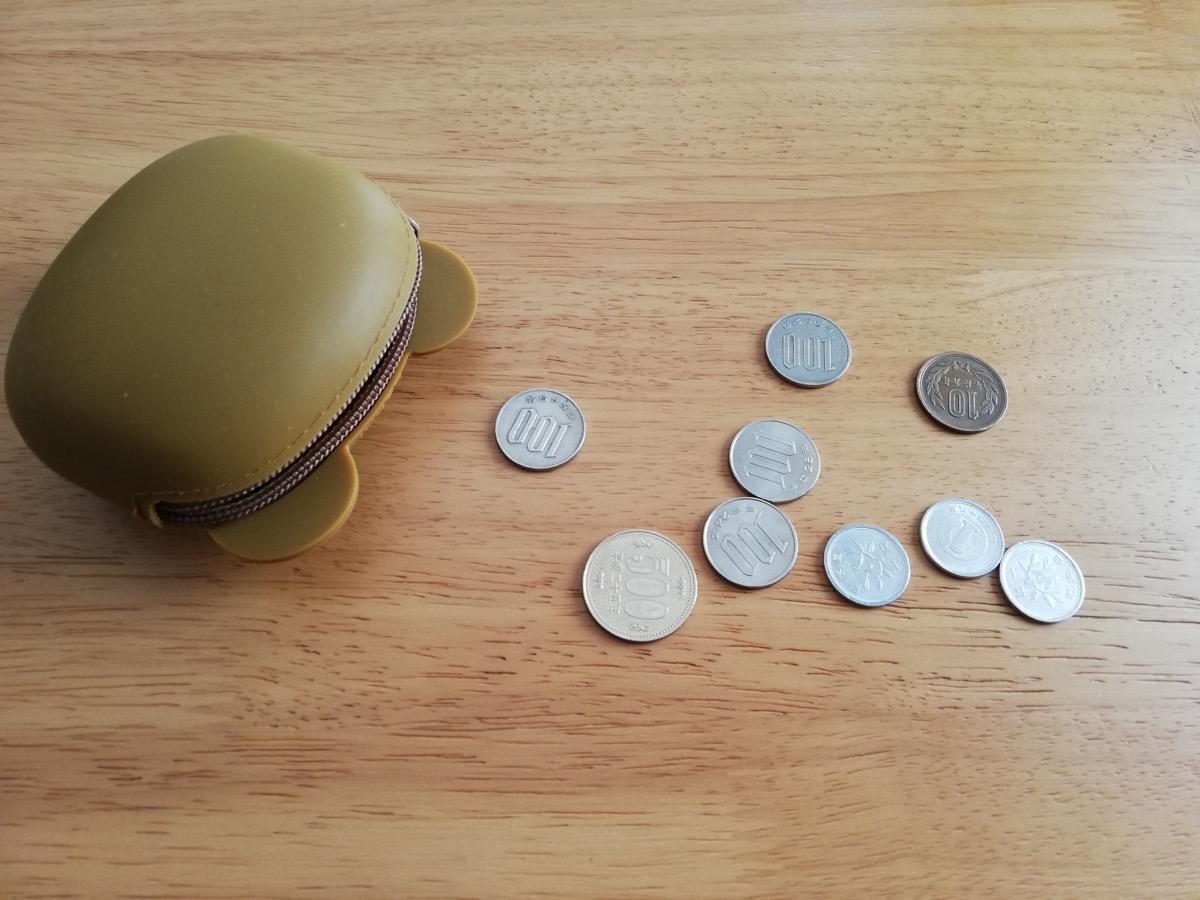 お財布からでた小銭