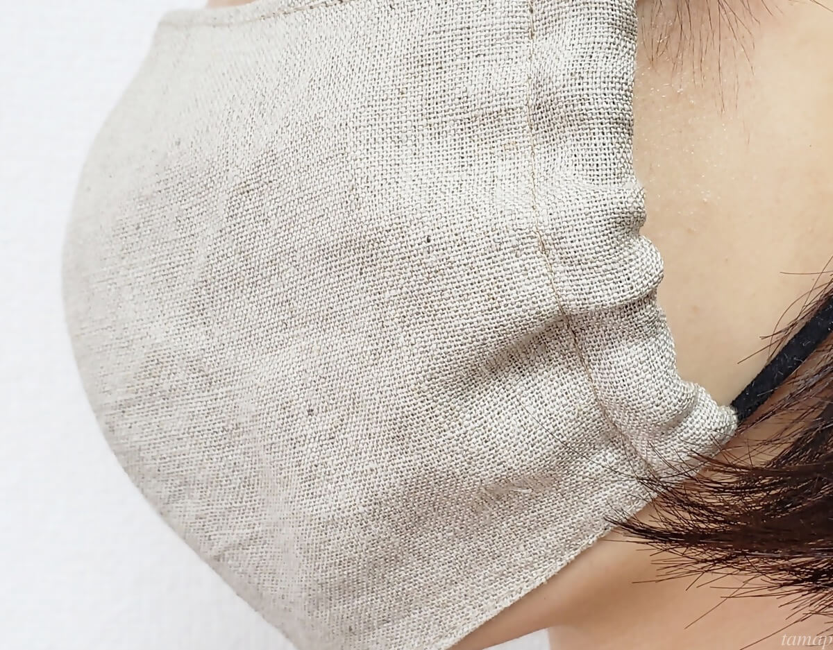 リネン素材100%マスク