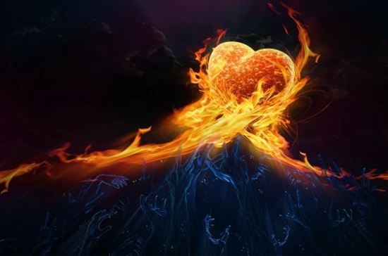 Love-Heart-Made-of-Fire-Flames-600x375